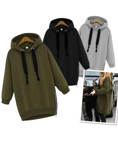 Cotton-Fleece-Hot-Selling-Women-Side-Zipper-Oversize-Hoodie