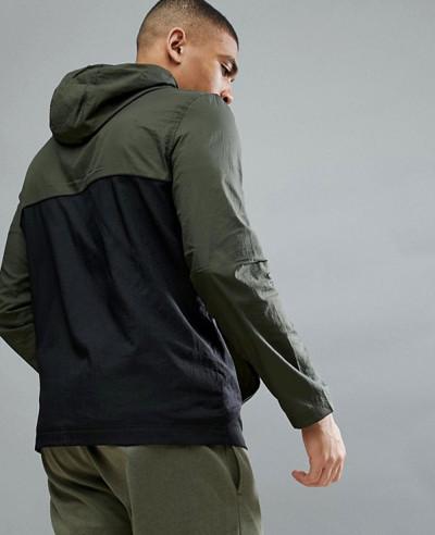 Fitness Baxter Water Resistant Windbreaker Jacket In Green
