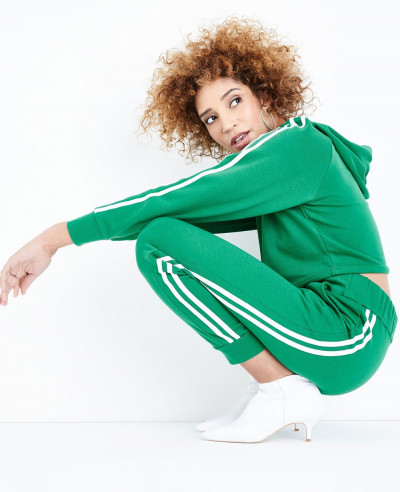 Green-Side-Stripe-Slim-Leg-Joggers-Tracksuit