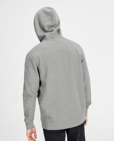 Grey Men Stylish Zip Up Custom Hoodie