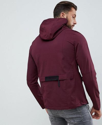 Half Zipper Over The Head Windbreaker Jacket