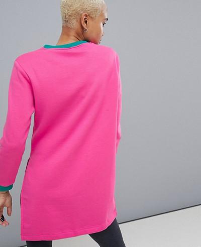 High Quality Custom Fleece Colorblock Longline Sweatshirt