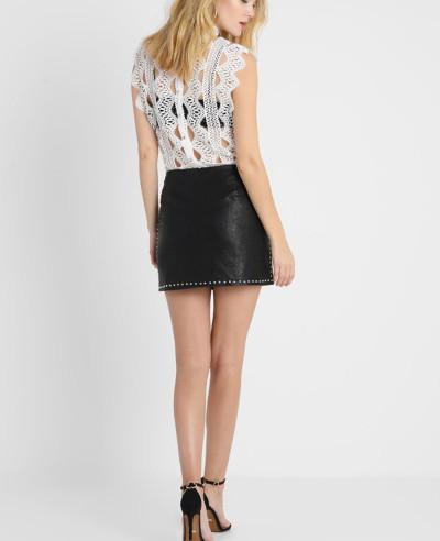 High-Quality-Fashion-Leather-Mini-Skirt