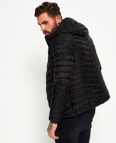 High Quality Men Black Padded Puffer Jacket