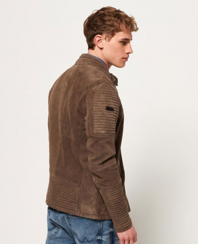 High Quality Men Custom Premium Suede Racer Jacket