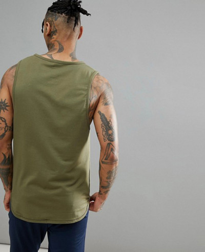 High Quality Men Custom Vest In Khaki Tank Top