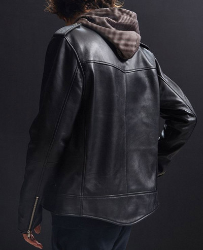 High Real Leather Moto Jacket