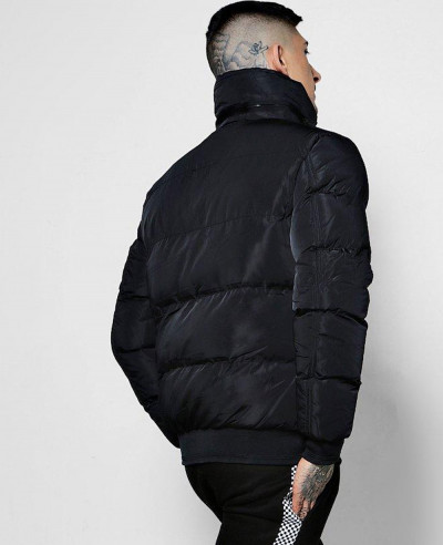 High Rich Padded Funnel Neck Puffer Jacket