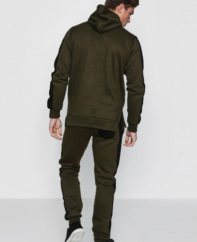 Hot Men Custom Skinny Fit Zipper Front Hooded Tracksuit