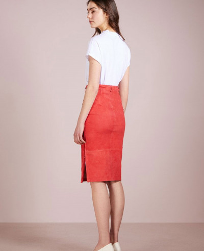 Hot-Selling-Fashion-Leather-Pencil-Skirt