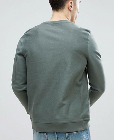 Hot Selling Men Sweatshirt With Pocket In Khaki