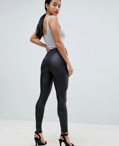 Leather-Look-Leggings-With-Elastic-Slim-Fting-Waist