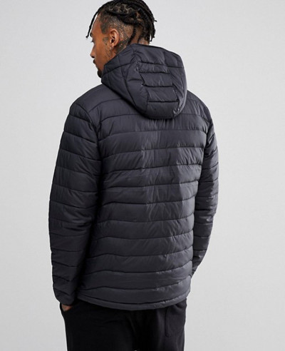 Lite Puffer Jacket Hooded in Black