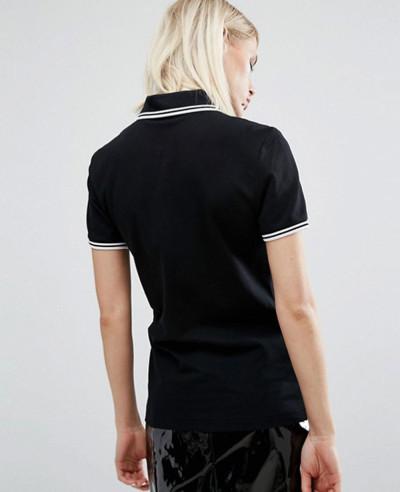 Longline-Fashion-Twin-Tipped-Black-Polo-Shirt
