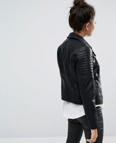 May Leather Biker Jacket