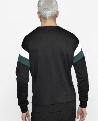 Men Arem Colour Block Fleece Panelled Sweater Sweatshirt