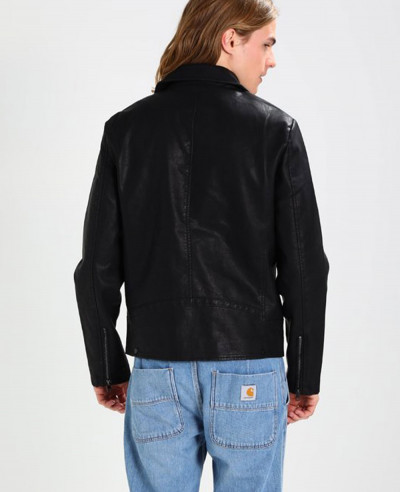Men Biker Hot Selling Faux Real Leather Jacket