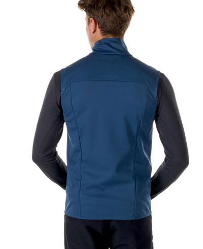 Men Blue Softshell Vest