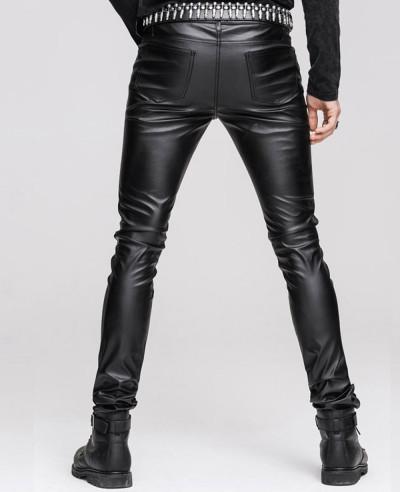 Men Classic Skinny Slim Trouser Denim Casual Faux