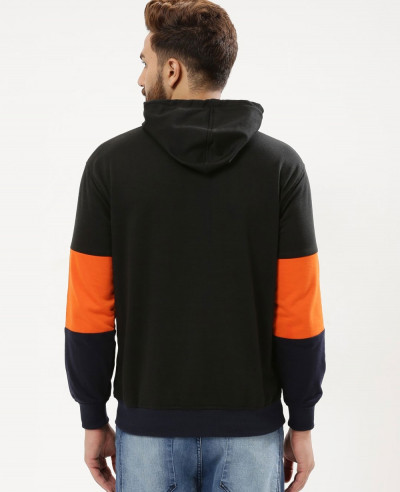 Men Colour Block Hoodie