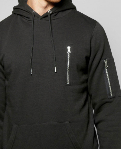 Men Custom Overhead Hoodie With Zipper