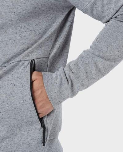 Men Grey Full Zipper Hoodie