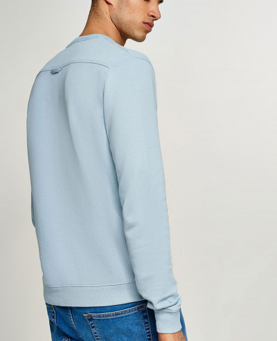 Men Grey Marl Taping Sweatshirt