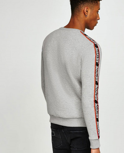 Men Grey Taping Sweatshirt