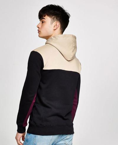Men Handmade Custom Stylish Zipper Black Hoodie