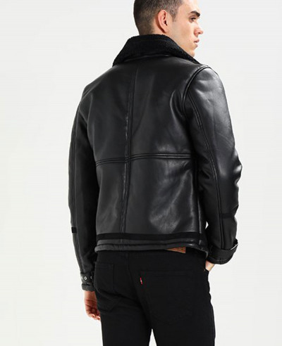 Men High Quality Custom Fur Faux Leather Jacket