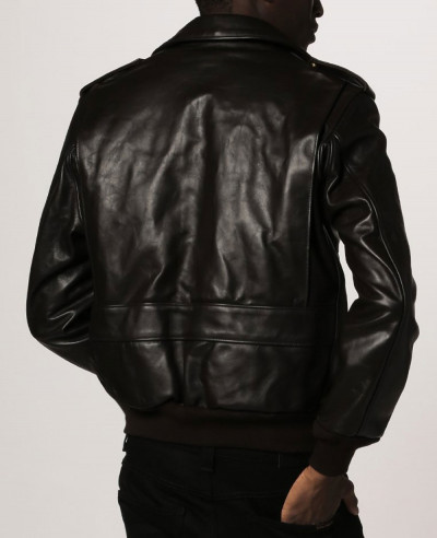 Men High Quality Custom Shearling Sheep Leather Jacket