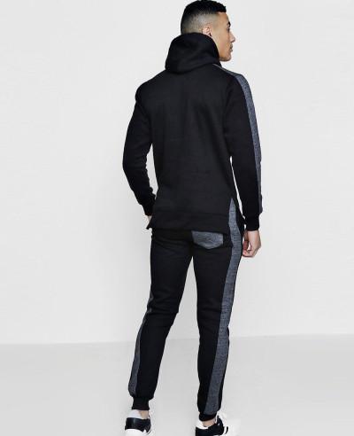 Men Hot Selling Custom Skinny Fit Zipper Front Hooded Tracksuit