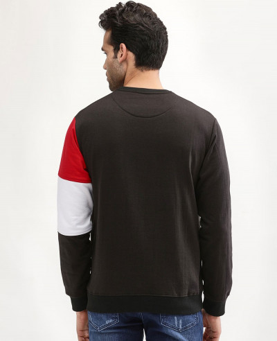 Men Hot Selling Stylish Custom Colour Block Sweatshirt
