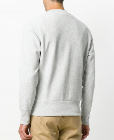 Men Long Sleeve Grey Sweatshirt