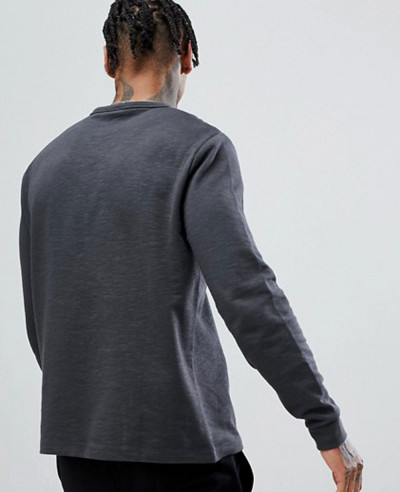 Men Muscle Fit Casual Long Sleeve Sweatshirt