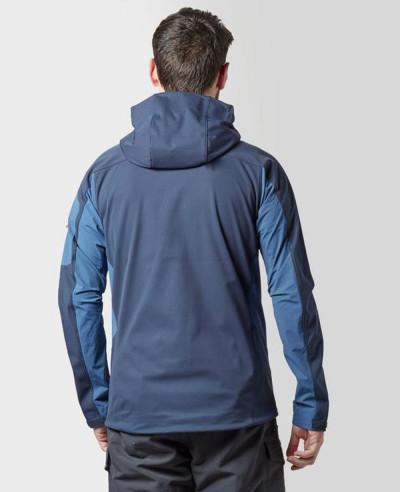 Men New Stylish Blue Water Ice Softshell Jacket