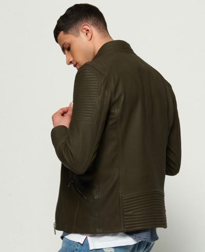 Men Premium High Quality Custom Leather Racer Jacket