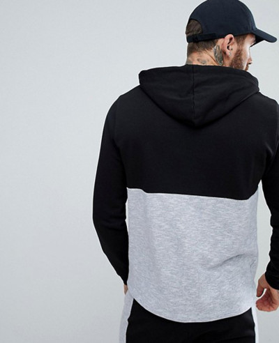 Men Pullover Gym Hoodie With Nep Panel