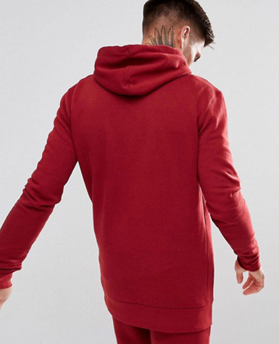 Men Pullover Stylish Hoodie In Red