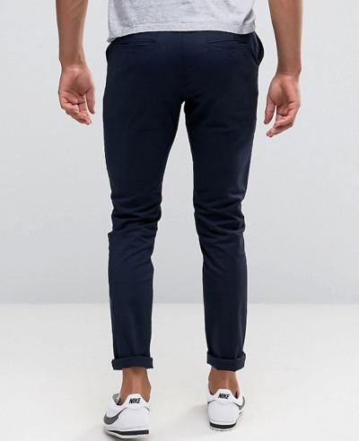 Men Skinny Chinos In Black & Navy Trouser