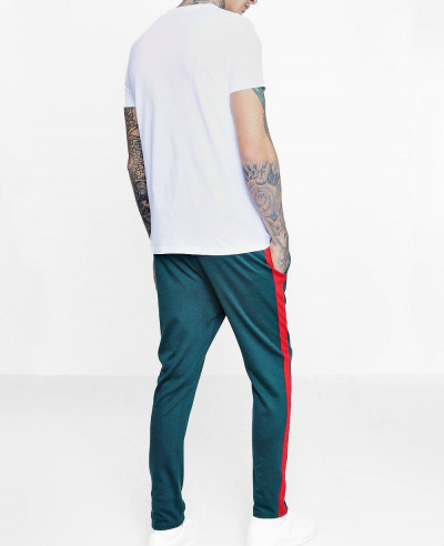 Men Skinny Fit Panel Joggers