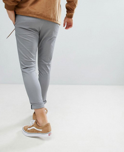 Men-Super-Skinny-Cropped-Chinos-In-Grey-Trouser