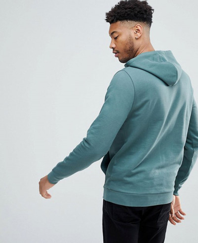 Men Washed Green Pullover Stylish Hoodie