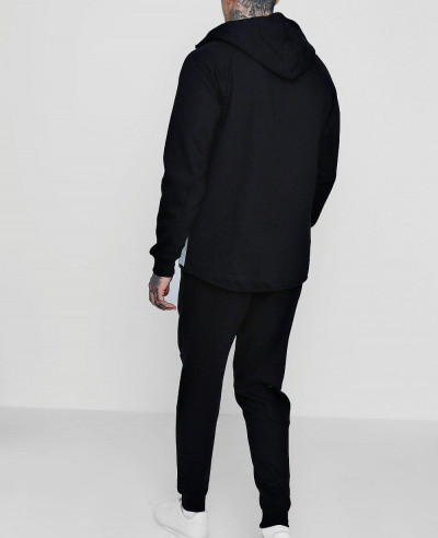 Men Zipper Most Selling Custom Skinny Fit Stripe Panel Tracksuit