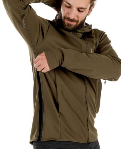 Most Selling Men Custom Hooded Softshell Jacket