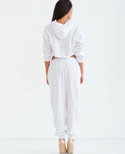 Most Selling Stylish Women Sweat It SweatSuit in White