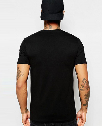 Muscle Fit Stylish With V Neck And Stretch T Shirt
