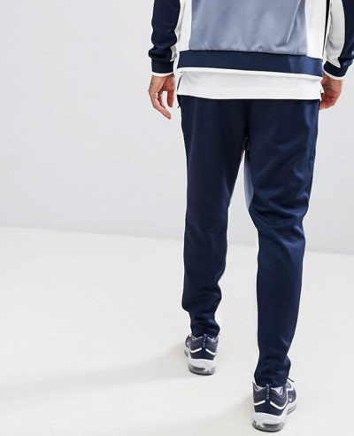 Navy Blue Trinda High Class Men Panels Sweatpant Jogger