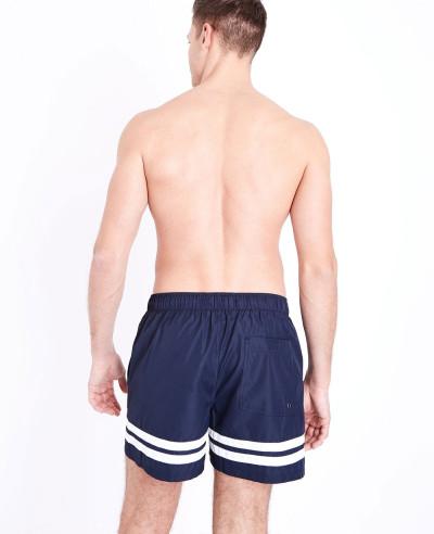 Navy-Double-Stripe-Swim-Shorts
