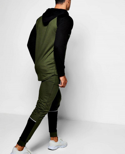 New Colour Block Skinny Fit Tracksuit